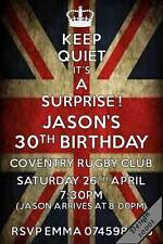 10 x Personalised SURPRISE Birthday Invitations/ 18th 30th 40th Party Invites