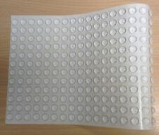 276 claro Ronda semicirculares de parachoques Cojines / parachoques Pies Auto Adhesivo – 11.1 mm X 5mm