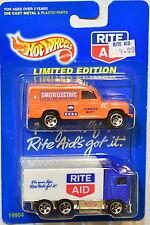 HOT WHEELS 1997 LAND ROVER MKII - HIWAY HAULER 2 CAR PACK RITE AID