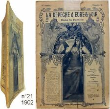 Dépêche Eure & Loir n°21 1902 Numismatique Natation Manche Pôle arctique TSF etc