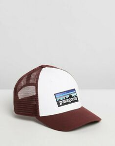 Patagonia LoPro P-6 Logo Low Crown Trucker Cap - Maroon - Australia Postage
