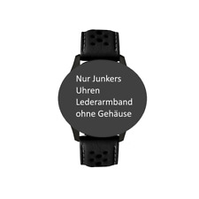 Watch Strap Leather Perforated 0 7/8in Wide Grey Seam Von Junkers 6680