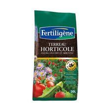 TERREAU SUBSTRAT AVEC ENGRAIS HORTICOLE 20 LITRES FERTILIGENE fleurs légumes