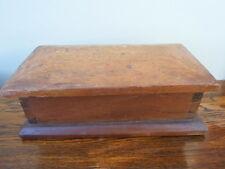 Vintage wooden box, shed art, school project, stationery, jewellery, desk, pens