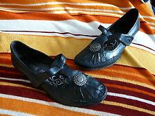Schuhe Pumps Spangen-Pumps Jana Gr. 5 1/2 (38,5) schwarz mit Klettspange