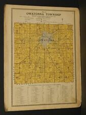 Minnesota Steele County map Owatonna Township 1914 W4#87