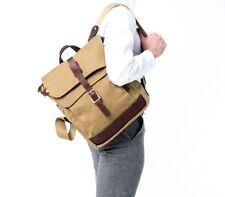 New KORCHMAR F9233 Garrett Field Waxed Cotton Messenger Bag Backpack $350