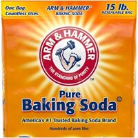 Pure Baking Soda Arm & Hammer Multipurpose Uses Resealable Bag 15-lbs