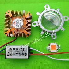 10W full spectrum led grow chip 380nm~840nm + 110-230V driver+Heatsink + len kit