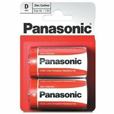 2 Panasonic Zinc Carbon Battery Batteries D Lr20 Am1