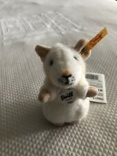 Steiff 'Pilla' White Mouse - cuddly collectable washable plush soft toy - 056215