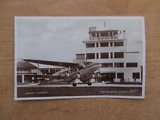 VINTAGE POSTCARD JERSEY AIRPORT RP JERSEY AIRWAYS PLANE