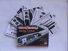 Micromodels ROYAL TRAIN S.A. RAILWAYS SET CII Micro New Models card kit