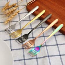 Stainless Steel Dinner Fork Portable Dessert Bento Travel Picnic Plating Fork