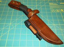 Custom Leather Knife Sheath Fits MORA  BUSH CRAFT KNIFE RH  Dangle,  Ferro Rod