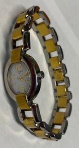 Women's Tissot 1853 Swiss Made Watch RKS-BC G332 Gold Silver Tone New Battery