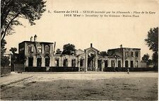 CPA  Guerre de 1914 -Senlis incendié par les Allemands -Place de la Gare(291665)