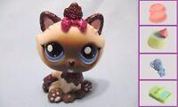 Littlest Pet Shop Himalayan Glitter Cat 2143 Free Accessory Authentic Lps