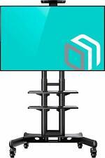 """Onkron Mobile TV Stand Cart With Wheels & 2 AV Shelves for 32"""" – 65 Inch Lcd..."""