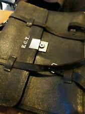 Black supple quality leather vintage briefcase- Made by Keystone, United Kingdom