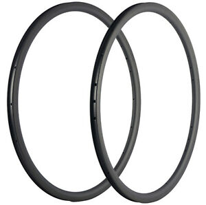 30mm Clincher Bicycle Carbon Rims 2pcs 25mm Width 3K/UD 16/18/20/24/28 Hole Rims
