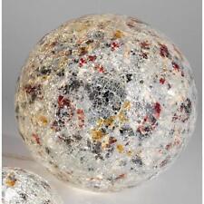 Kugellampe, Leuchte, Lichtkugel MOSAIK silber bunt 50 LEDs Glas Ø 25cm Formano