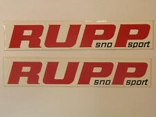 NOS RUPP 1971 Sno Sport Decal Bumper Reflective Decals Stickers Side Sticker