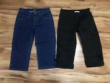 womans size 6 crop jean and black pants capris lot easy fit & Riders by Lee