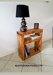 Bedside Table/ Side Table/Telephone Table/Handmade Solid Pine wood
