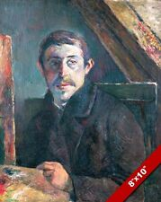 PAUL GAUGUIN MASTER FRENCH ARTIST SELF PORTRAIT PAINTING ART REAL CANVAS PRINT