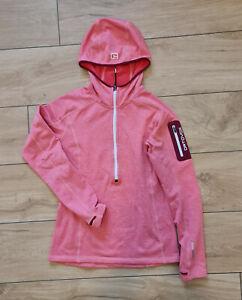 Ortovox Damen Fleece Light Half-Zip-Pullover mit Kapuze, hot coral, S