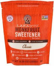 Classic White Sugar Free Sweetener, Lakanto, 235 gram pouch 1 pack