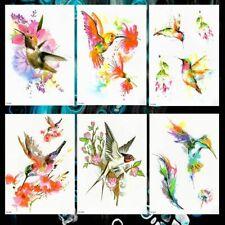 Temporary Tattoos Graffiti Hummingbird Flying Waterproof Chest Shoulder Stickers