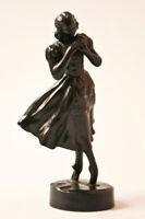 "Antique Russian KACNH KASLI Metal Cast Iron Figurine ""Ballerina Giselle"""