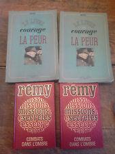 Lot de 4 livres de Rémy : missions secrètes 2 tomes - Le livre du courage et de