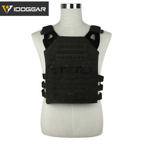 IDOGEAR Tactical Vest JPC Plate Carrier Airsoft Vest MOLLE Body Camo Military