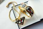 Authentic MICHAELA FREY WILLE Jewelry Set Clasp Bangle & Necklace VINTAGE