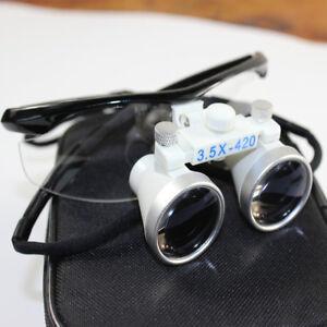 Dental Loupes Surgical Binocular Binokularlupe Kopflupe Lupenbrille 3.5 *420mm