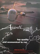 9/1992 PUB RINALDO PIAGGIO AVANTI P180 ITALIAN EXECUTIVE AIRCRAFT ORIGINAL AD