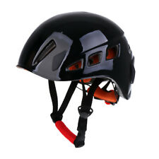 Adjustable Safety Helmet Climbing Caving Rappelling Rescue Protector Black