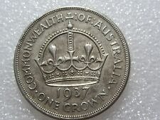 1937   CROWN   1 RARER  COIN   92% silver  lot 2