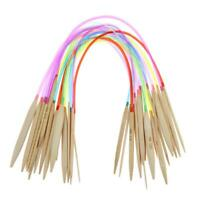 18 Paar/Set Bambus Rund Häkeln Stricknadeln Tube Nähen Werkzeuge #R