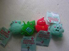 Toysmith Light Up Squishy Critters( Santa, Elf, Polar Bear, Snowman) Toys - New
