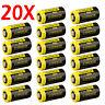 20 Pack 1300mAh 123A CR123A DL123 EL123 3 Volt Lithium Batteries For Camera