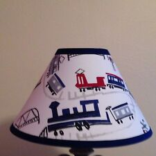 Trains Fabric  Lamp Shade M2M Pottery Barn Kids Bedding