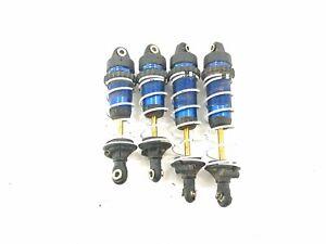 4 1/10 Traxxas 4x4 Slash LCG Ultimate GTR Blue Aluminum Shocks Ti-Ni Shafts