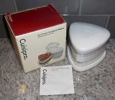 Cuisipro Ice Cream Sandwich Maker + Instructions/ Recipes (NEW IN BOX)