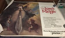 1978 Lord Of The Rings animated Vintage Movie Poster full sheet 60 x 45
