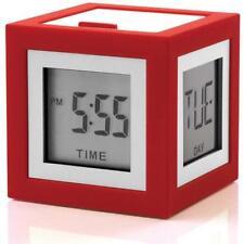Sveglie e radiosveglie rosso digitale a batteria