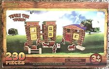 LINCOLN LOGS STYLE TUMBLE TREE TIMBERS WESTERN TOWN COWBOY HORSES 230 PCS